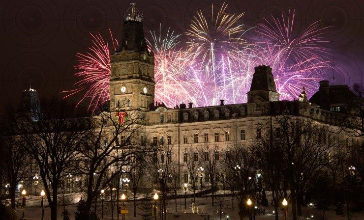 Feux du jour de l'an, Québec,  2012.