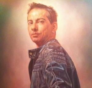 Jean Surprenant tel que peint en 2011 par l'artiste bien connu de Québec et récipiendaire de nombreux prix et reconnaissances Denis Jacques.