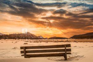 Parc du Bic, Bas St-Laurent, hiver 2014. Traitement DRI.
