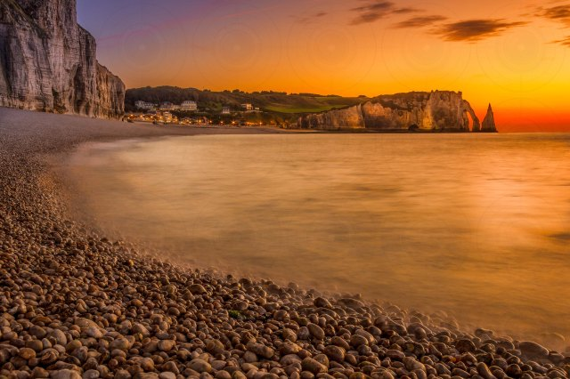 Etretat Beach Sunset DRI-Getty-Finale