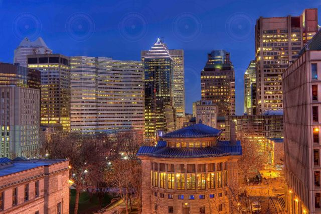 Montreal downtown at dusk HDR II-Getty FINALE