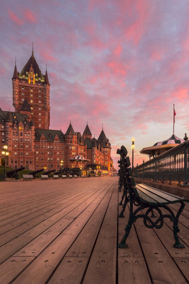 Frontenac castle sunrise